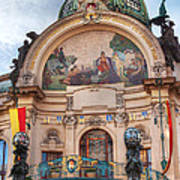Municipal House-prague Poster by John Galbo