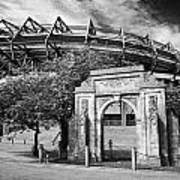 Murrayfield Stadium With War Memorial Arch Edinburgh Scotland Poster by Joe Fox