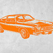 Muscle Car Poster by Naxart Studio