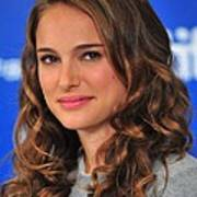 Natalie Portman At The Press Conference Poster by Everett