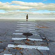 Never Ending Crosswalk Poster by Jill Battaglia