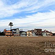 Newport Beach Oceanfront Houses Poster by Paul Velgos