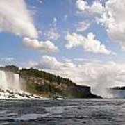 Niagara Falls View From The Maid Of The Mist Poster by Mark J Seefeldt