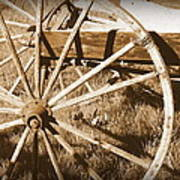 No Gas Needed Buggy Wheels Poster by Cindy Wright