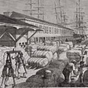 North Commercial Wharf Of Charleston Poster by Everett