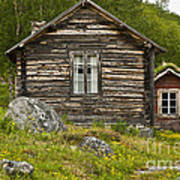 Norwegian Timber House Poster by Heiko Koehrer-Wagner