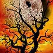 Nuclear Moonrise Poster by Meirion Matthias