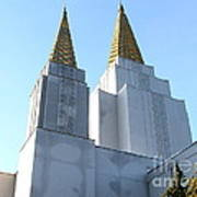 Oakland California Temple . The Church Of Jesus Christ Of Latter-day Saints . 7d11360 Poster by Wingsdomain Art and Photography