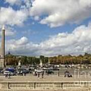Obelisque Place De La Concorde. Paris. France Poster by Bernard Jaubert