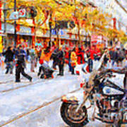 Occupy Sf Market Street . 7d9738 Poster by Wingsdomain Art and Photography