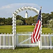Ocracoke Lighthouse July 4th Poster by Bill Swindaman