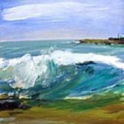 Ogunquit Beach Wave Poster by Scott Nelson