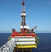 Oil Production Rig, Baltic Sea Poster by Ria Novosti