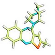 Olanzapine Antipsychotic Drug Molecule Poster by Dr Tim Evans