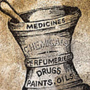 Old Time Medicine Ad Poster by Wendy White