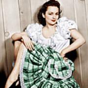 Olivia De Havilland, Ca. 1948 Poster by Everett
