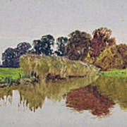 On The Arun Stoke Sussex  Poster by George Vicat Cole