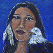 Onawa Native American Woman Of Wisdom Poster by The Art With A Heart By Charlotte Phillips