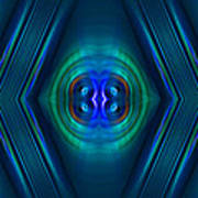 Optical Blue Poster by Carolyn Marshall