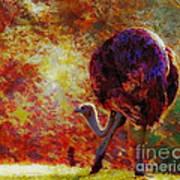 Ostrich II Poster by Arne Hansen