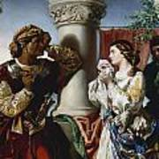 Othello And Desdemona Poster by Daniel Maclise