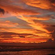 Pacific Sunset Costa Rica Poster by Michelle Wiarda