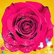 Painting Of Single Rose Poster by Setsiri Silapasuwanchai