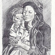 Pakistani Mother And Child Poster by John Keaton