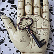 Palm Reading Hand And Key Poster by Garry Gay