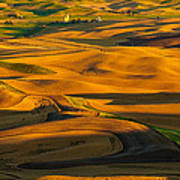 Palouse Shadow Play Poster by Dan Mihai