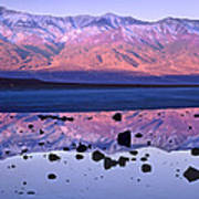Panamint Range Reflected In Standing Poster by Tim Fitzharris