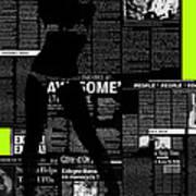 Paper Dance 2 Poster by Naxart Studio