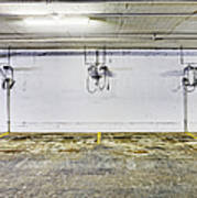 Parking Garage With Charging Stalls Poster by Skip Nall