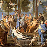 Parnassus, Apollo And The Muses, 1635 Poster by Photo Researchers