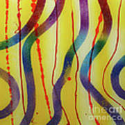Party - Swirls 2 Poster by Mordecai Colodner