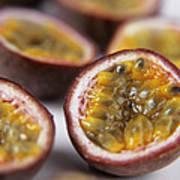 Passion Fruit Halves Poster by Veronique Leplat