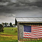 Patriotic Shed Poster by Kathy Jennings