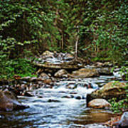 Peaceful Mountain River Poster by Lisa Holmgreen