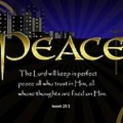Perfect Peace Poster by Greg Long