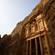 Petra Treasury At Morning Poster by Universal Stopping Point Photography