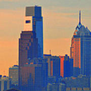 Philadelphia Sunrise Poster by Bill Cannon
