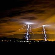 Phx Night Lightning #1 Poster by Kenny Jalet