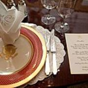 Place Setting Of The White House China Poster by Everett
