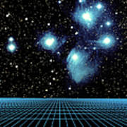 Pleiades In Taurus Poster by Science Source