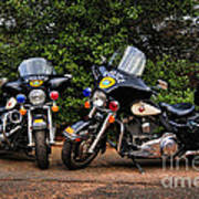 Police Motorcycles Poster by Paul Ward