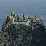 Popa Mountain Top Temple Poster by Huang Xin