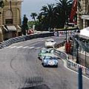 Porsches At Monte Carlo Casino Square Poster by John Bowers