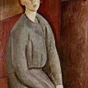 Portrait Of Annie Bjarne Poster by Amedeo Modigliani