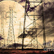 Power Grid Poster by Wingsdomain Art and Photography