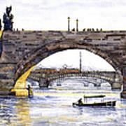 Prague Bridges Poster by Yuriy  Shevchuk